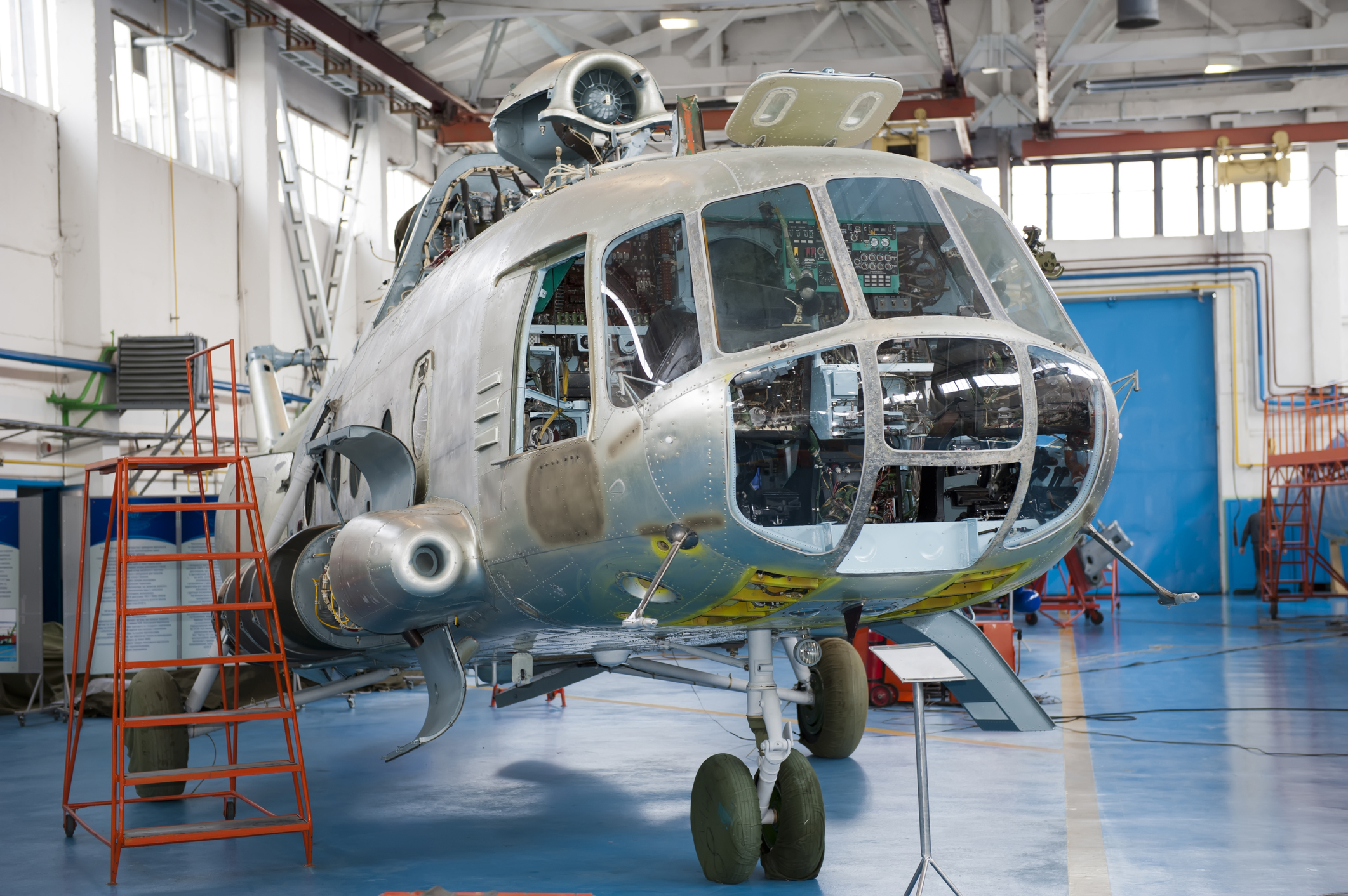 Repair of helicopters